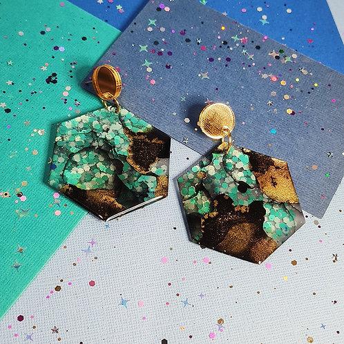 Seahorse Nebula Hex Dangles