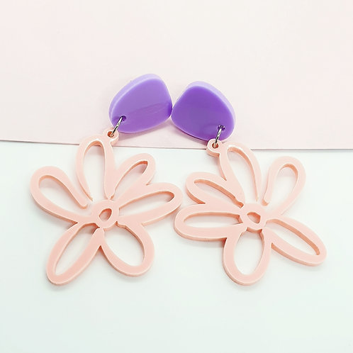 Blush Pink 'Daisy Days' Dangles