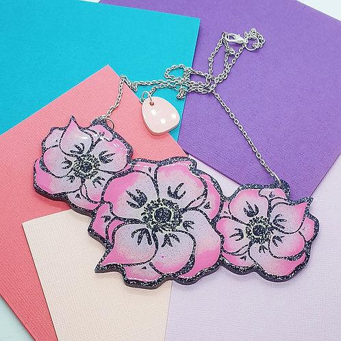 'Wild Rose' Statement Necklace