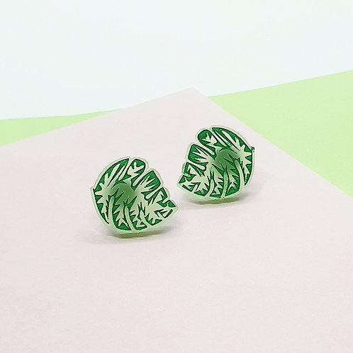 'Mighty Monstera' Mini Studs [Assorted Styles]