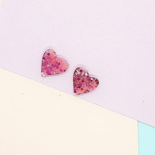 Fairy Floss Valentine Mini Heart Studs #6