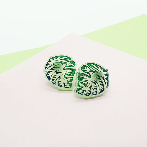 'Mighty Monstera' Studs [Assorted Styles]