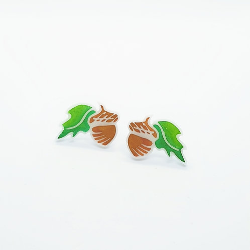 Spring 'Adorable Acorn' Studs