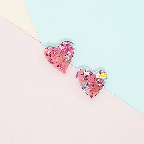 Fairy Floss Valentine Mini Heart Studs #3