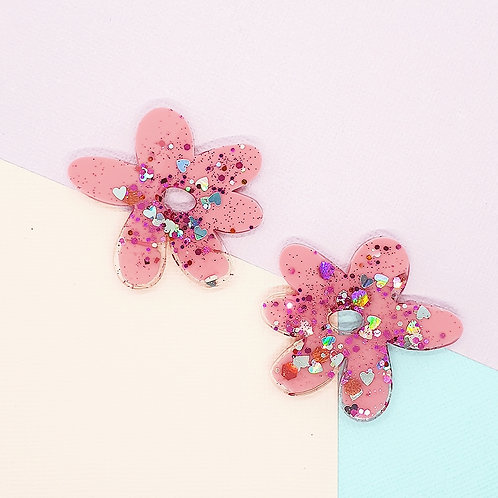 Fairy Floss Valentine Statement Daisy Studs #2