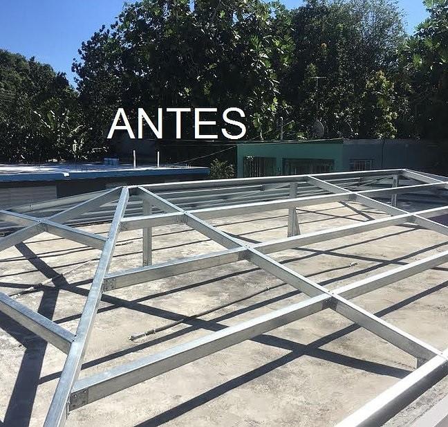 Construcción de techo sobre placa de cemento No más filtraciones