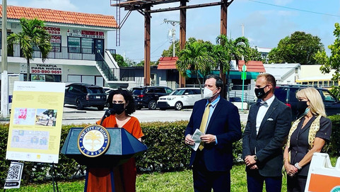 Press Event Announces $2.5M funds for Little Havana Pedestrian Priority Zones