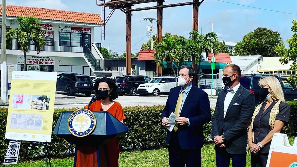 Press Event Announces $2.5M funds for Little Havana Pedestrian Priority Zones