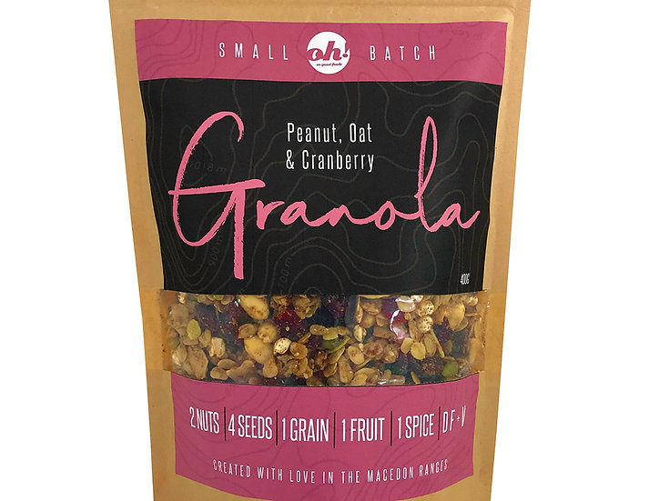 Peanut, Oat & Cranberry Granola - 400g