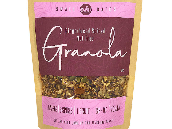 Gingerbread Spiced Nut Free Granola - 350g