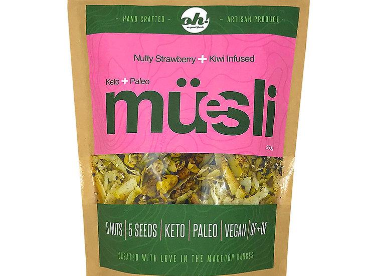Nutty Strawberry + Kiwi Infused Muesli - 350g