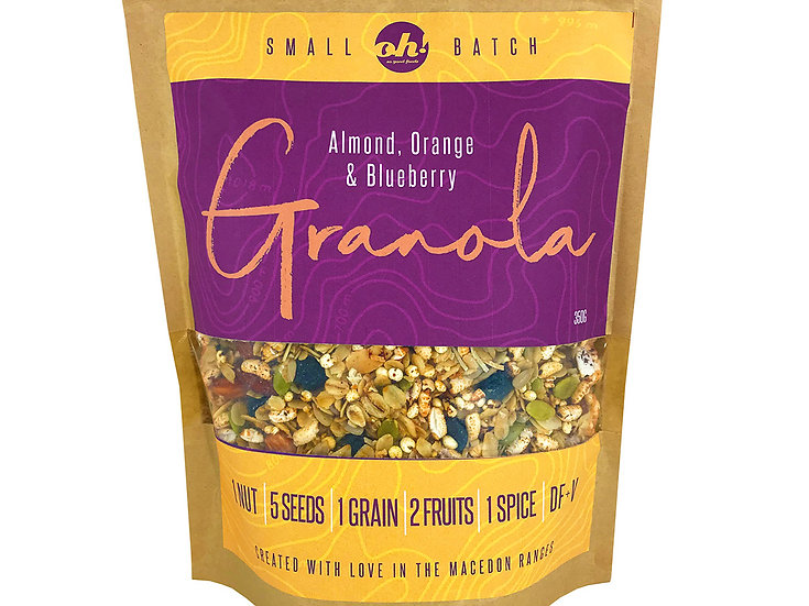 Almond, Orange and Blueberry Granola - 350g