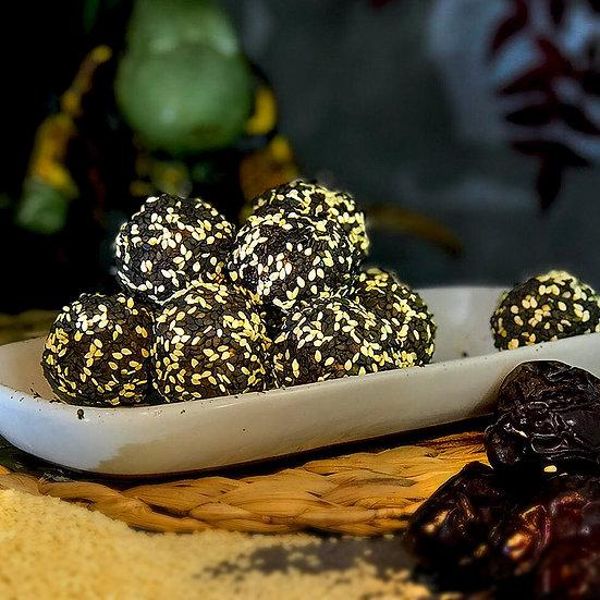 Salted Caramel & Sesame Pruffles
