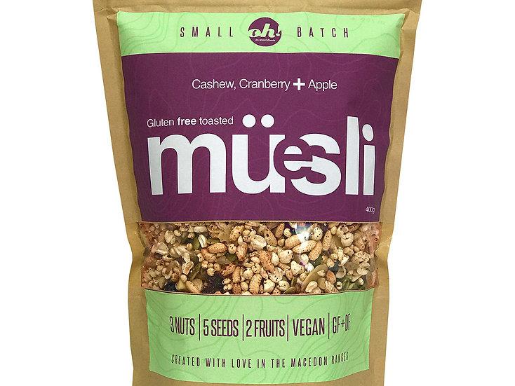 Cashew, Cranberry & Apple Muesli - 400g