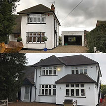 Before and after of the Flackwell Heath