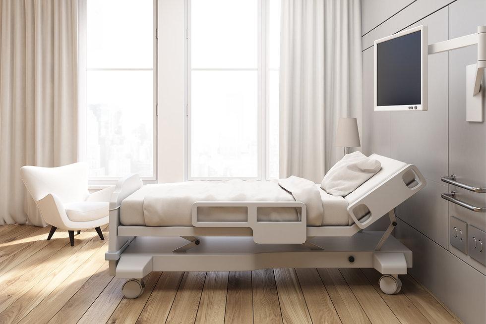 bigstock-Gray-Walled-Hospital-Ward-17816