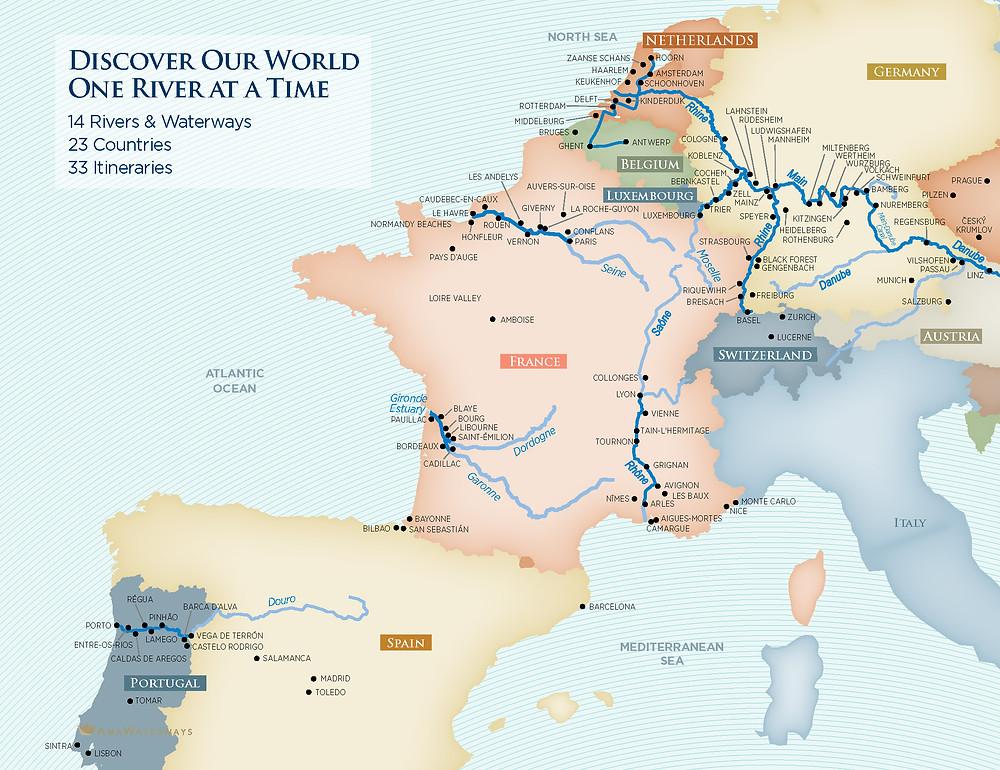 europe rivers, river cruise