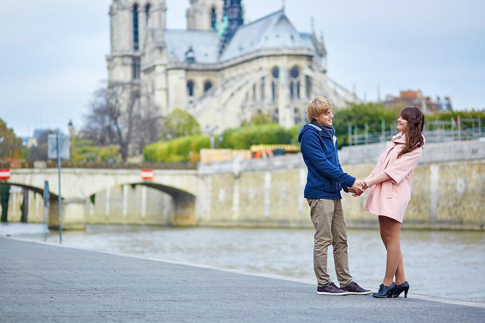 paris, couple, europe, river cruise