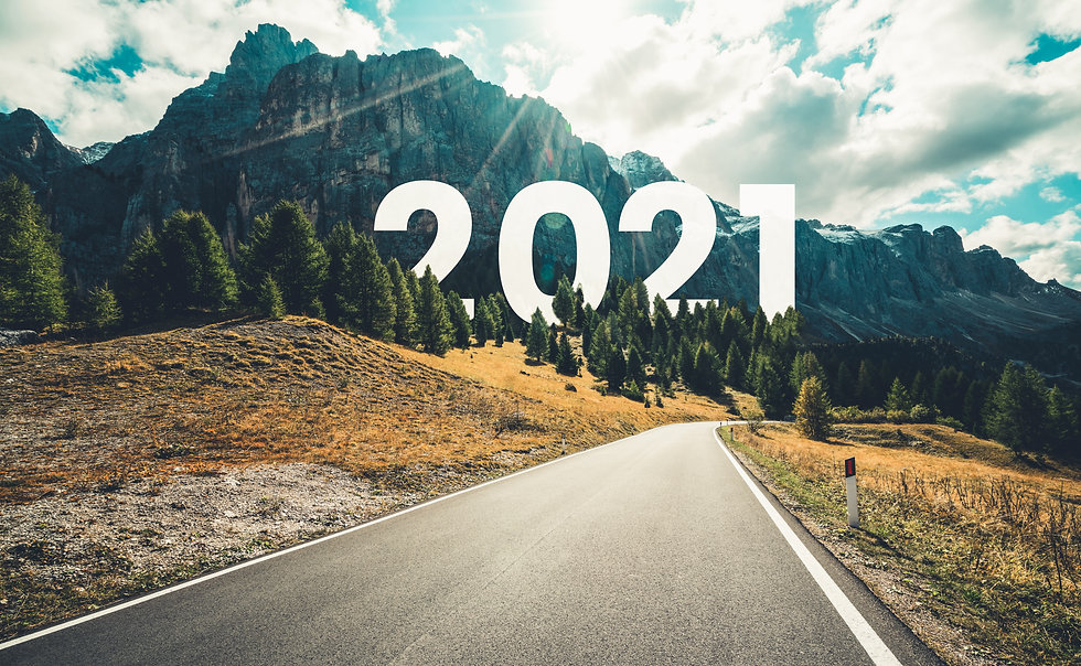 2021 New Year road trip travel and futur