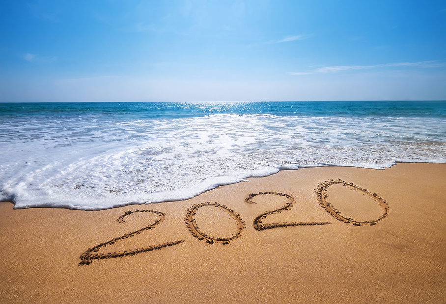 Happy New Year 2020 is coming concept sa