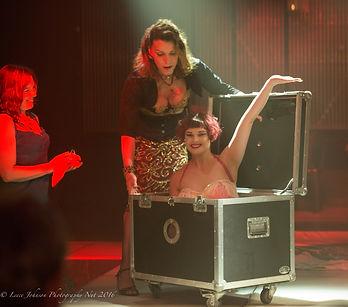 Zatanna, magician Perth, assistant out of the small box, stage magic show Perth, Illusionist Perth,