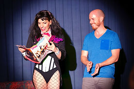Zatanna, Perth magician, newspaper act, Hitchcock act, magicians Perth, stage magic show, Fringe World magic, corporate entertainer, transgender magician, transgender actress