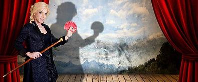 Zatanna, Perth magician, card act on stage, magicans Perth, magic shows Perth, Perth magic, transgender actress, transgender magician, close-up magic Perth, female magician Perth, Australian magician, female magician Australia, female illusionist Australia, mentalist Perth,