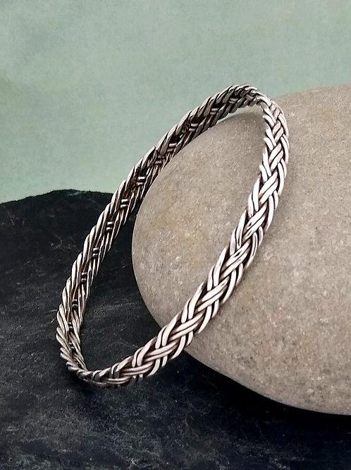 Sterling Silver Multi Wire Woven Bangle