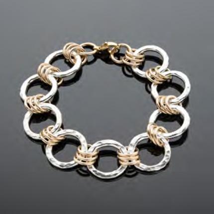 Sterling Silver and Gold Filled Handmade Bracelet