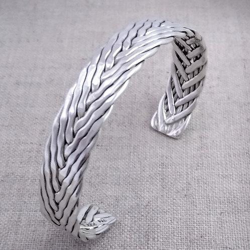 "1/2"" Wide Handmade Sterling Silver Cuff"