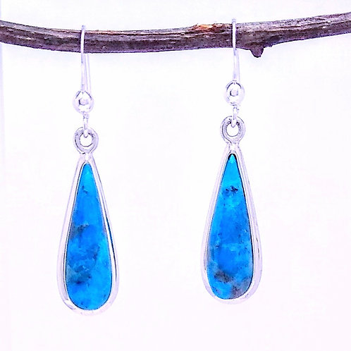 Sterling Silver Drop With Turquoise