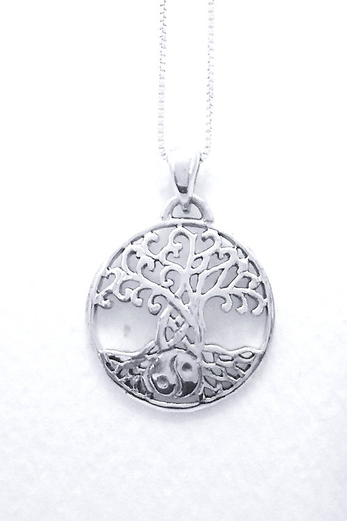 Tree of Life Pendant with Yin Yang Roots