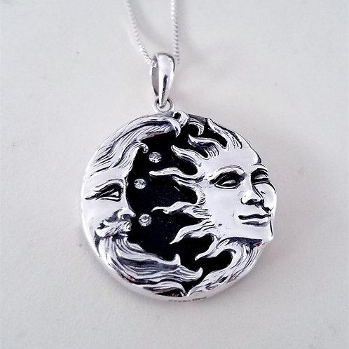 Onyx Sun and Moon Pendant