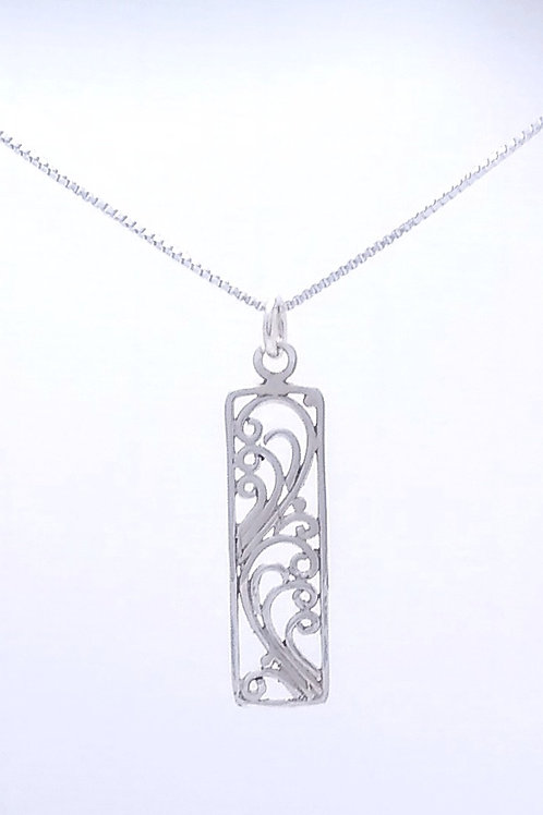 Wires In A Frame Sterling Silver Pendant