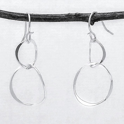Sterling Silver Intertwined Hoops