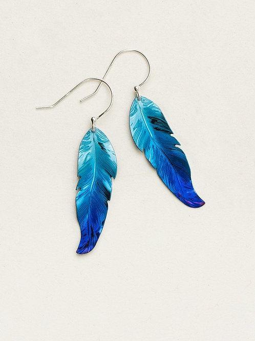 Holly Yashi Blue Feather Earring