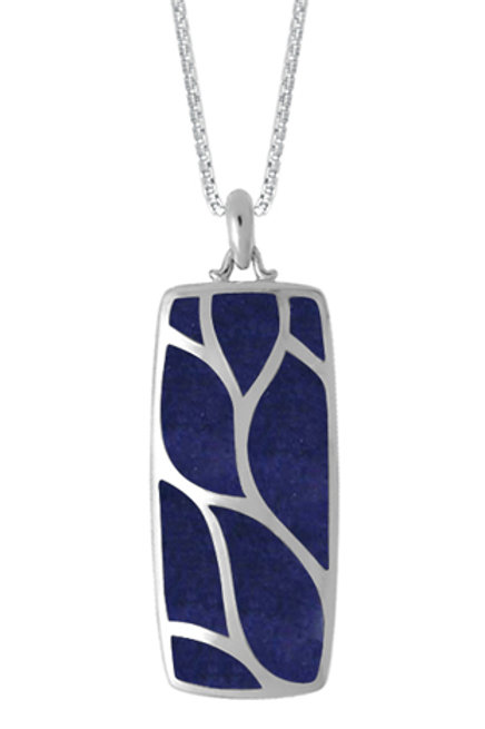 BOMA Sterling Silver Lapis Inlay Pendant