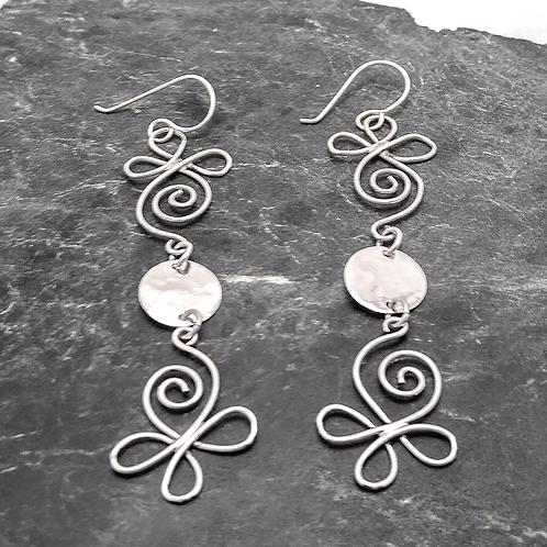 Long Handmade Sterling Earrings