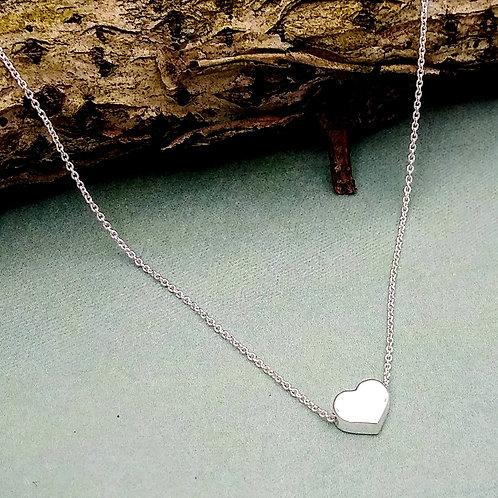 boma Sterling Silver Small Heart Necklace