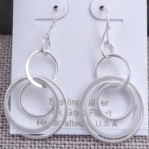 Sterling Silver multi loop earrings