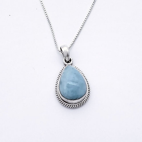 Sterling Silver Pendant With Larimar