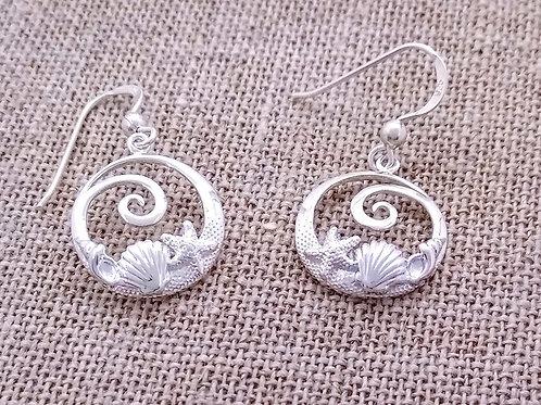 Sterling Silver Seashore Earrings