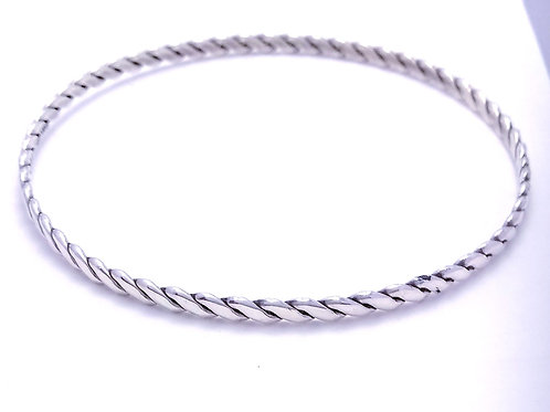Sterling Silver Light Woven Bangle