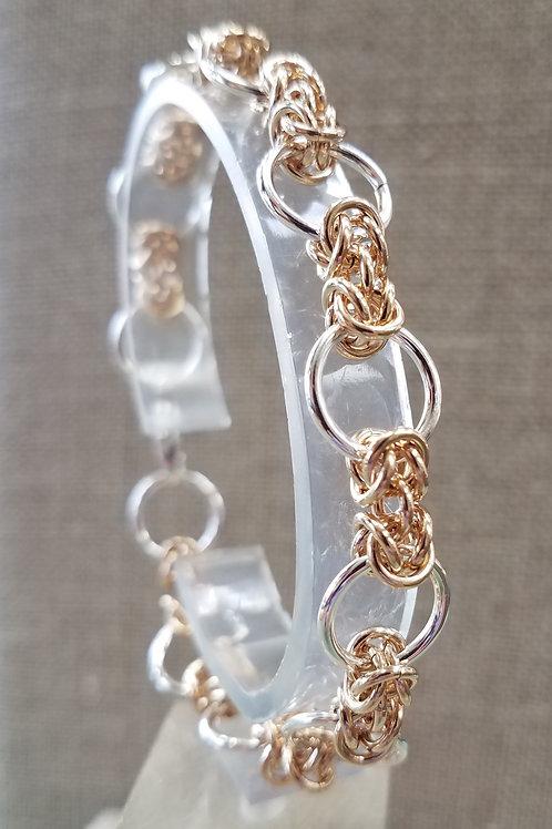 Sterling and Gold Fill Bracelet