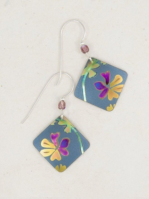 Floral Print Holly Yashi Earrings