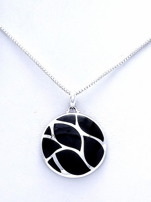 boma Sterling Silver Onyx Inlaid Pendant