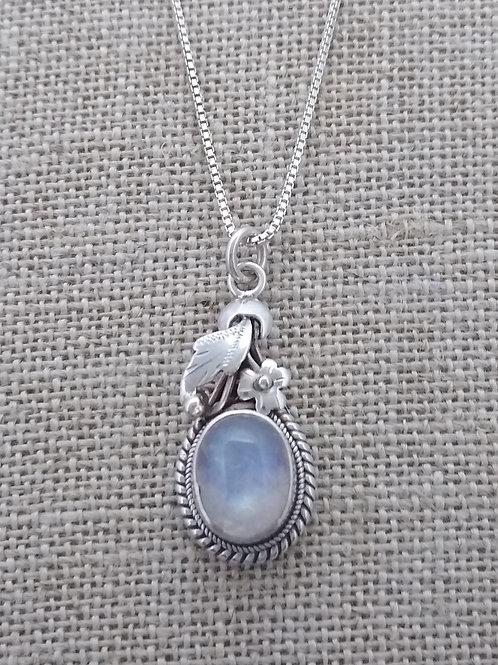 Sterling Silver Rainbow Moonstone Pendant