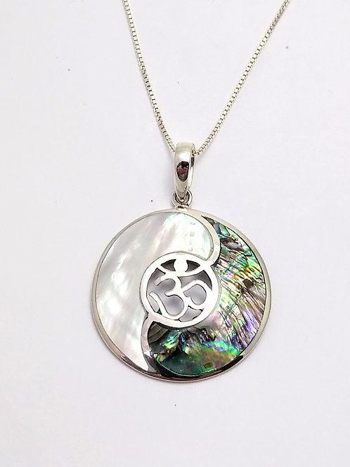 Inlaid Sterling Silver Yin Yang Pendant