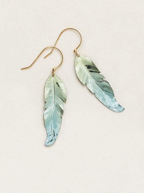 Holly Yashi Sage Feather Earring