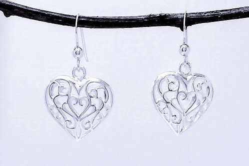 Sterling Silver Hearts.